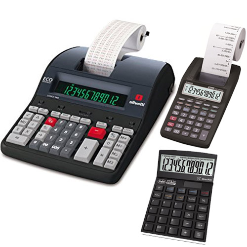 Calcolatrice da tavolo, calcolatrice scrivente, calcolatrice scrivente termica, calcolatrice miniscrivente
