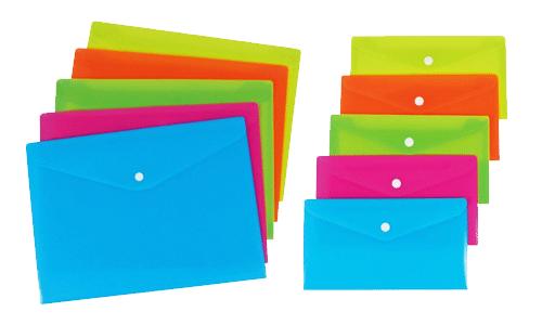 Buste con bottone colorate