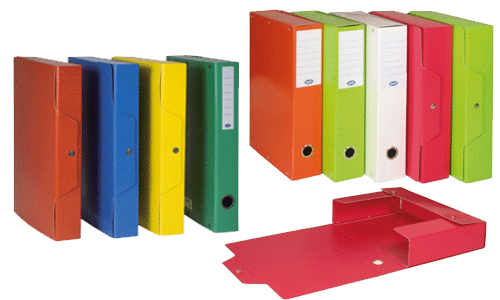 Scatole in cartone con bottone Buffetti per organizzare al meglio il tuo ufficio!