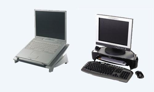 Supporti ergonomici per monitor e portatile