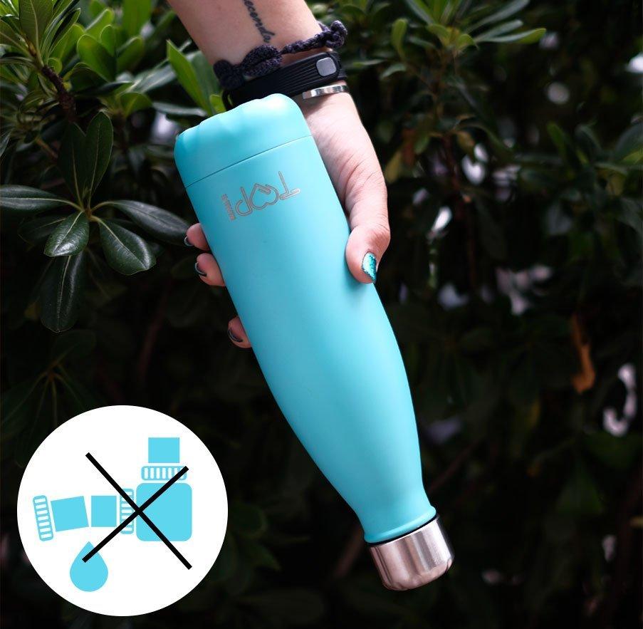 top rimini bottle è una bottiglia termica che non perde liquido grazie al tappo a chiusura ermetica